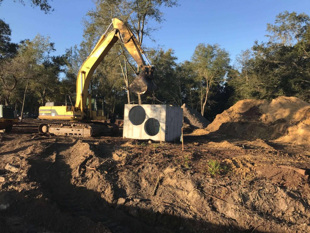Relocating the storm water overflow pipes