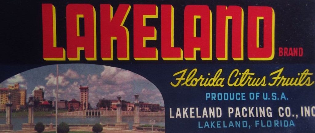 Vintage Orange Label - Lakeland, FL