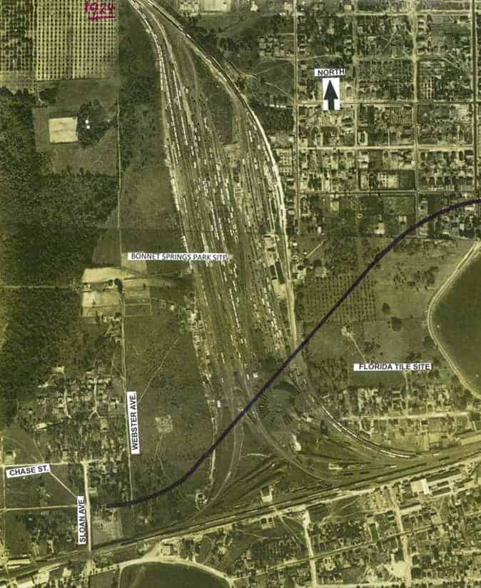 Old Aerial Photo of Lakeland
