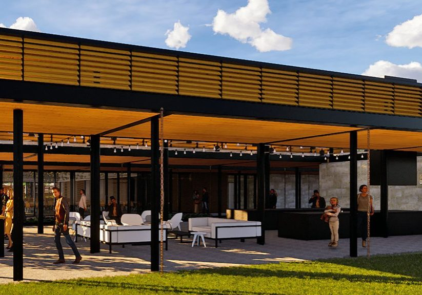 Bonnet Springs Park event center bar rendering